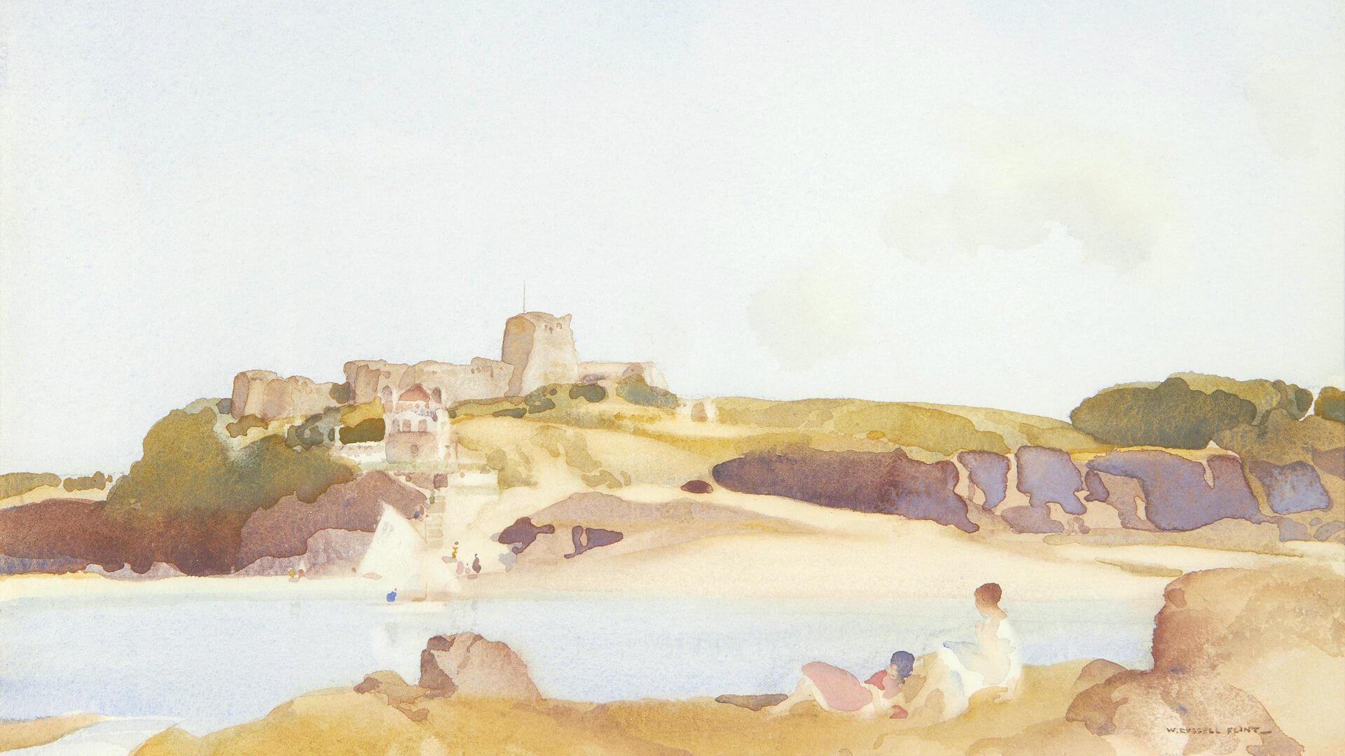 ウィリアム・ラッセル・フリント William Russell Flint / The Little Estuary, St. Brieux, Brittany