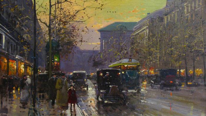 Edouard Léon Cortes-Boulevard de la Madeleine at sunset_1920x1080