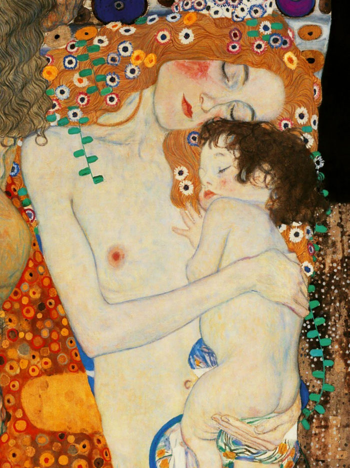 gustav klimt - mother and child 2048x2732