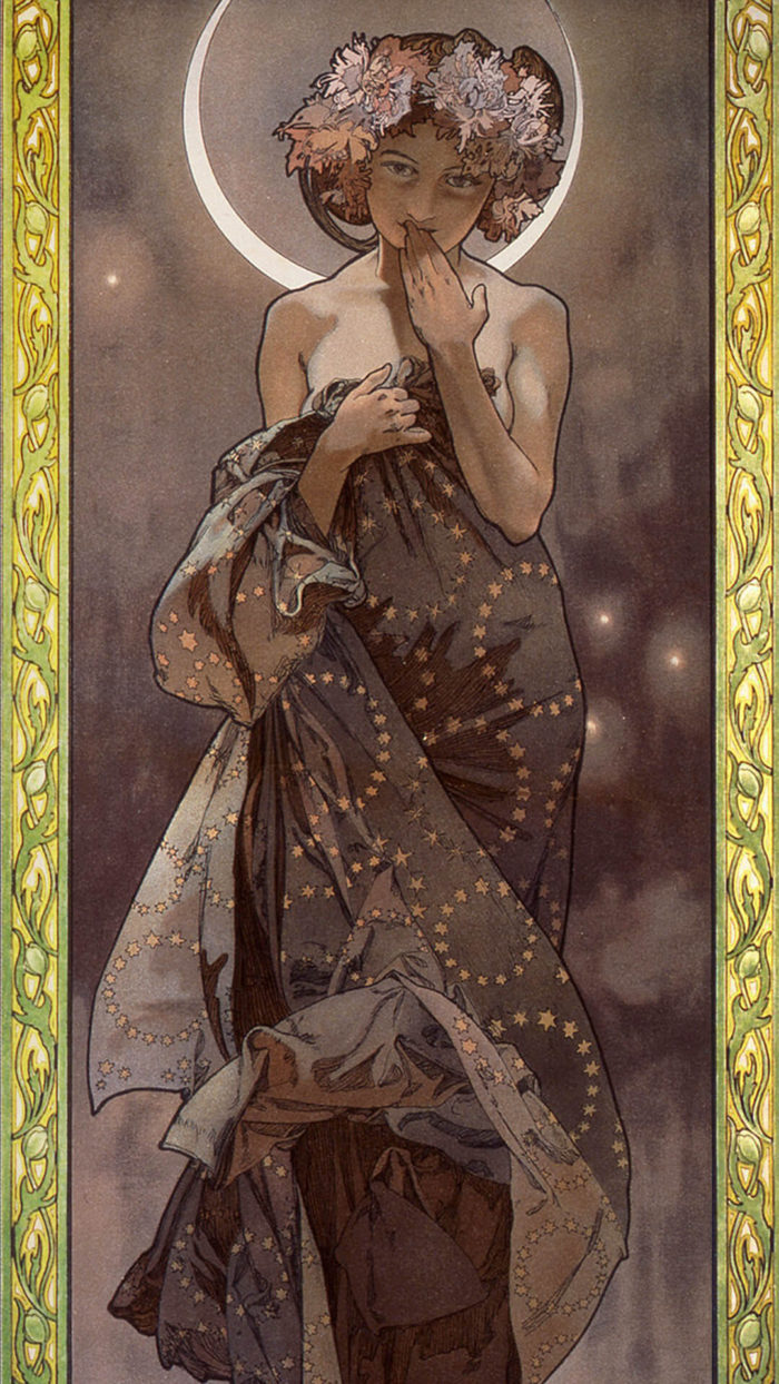 Alphonse Mucha_The moon_1080x1920