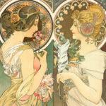 アルフォンス・ミュシャ / primrose and feather