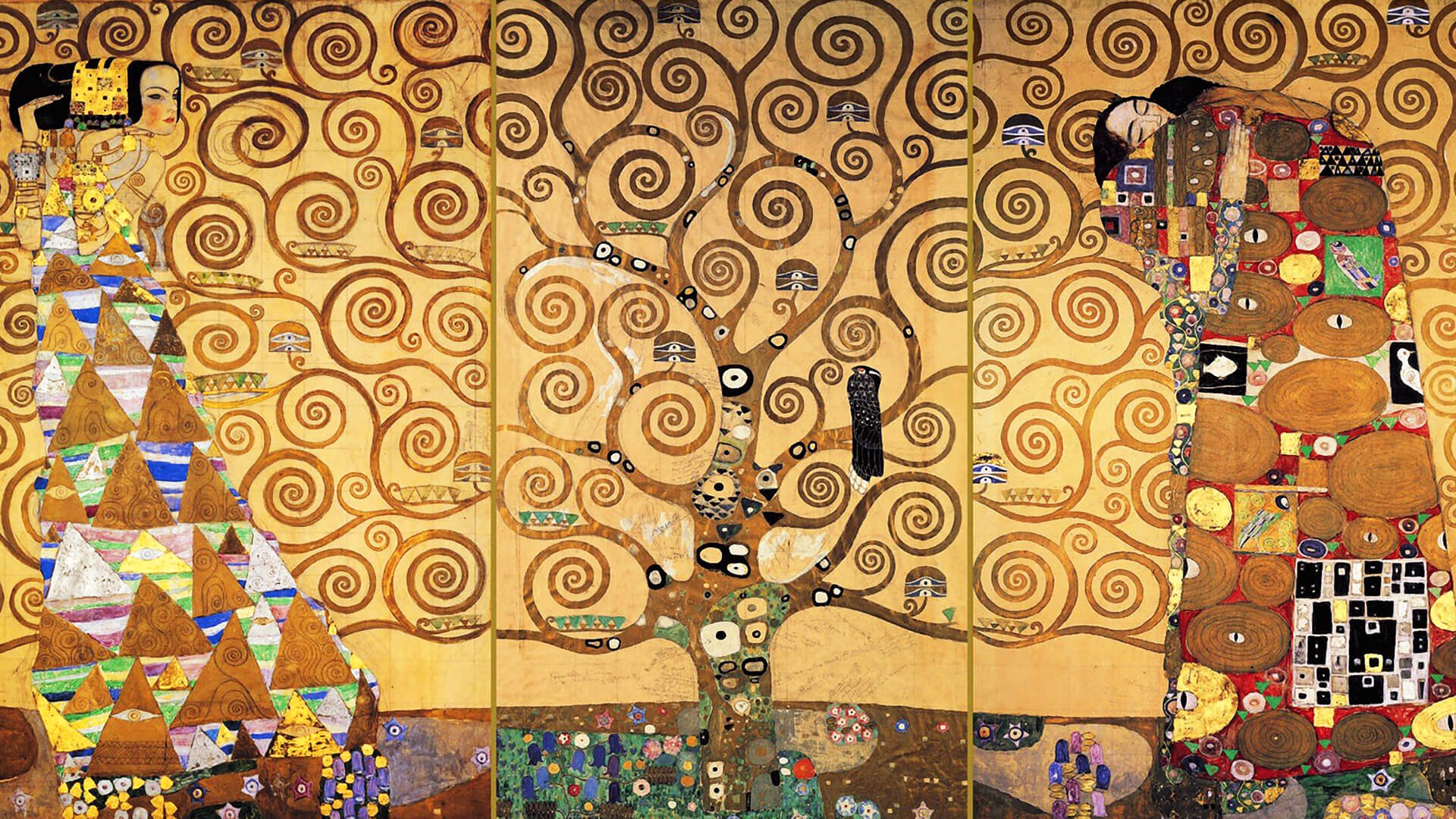 Gustav Klimt-The Tree of Life_1920x1080