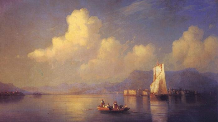 Ivan Aivazovsky-ItalianLandscape Evening NC_1920x1080