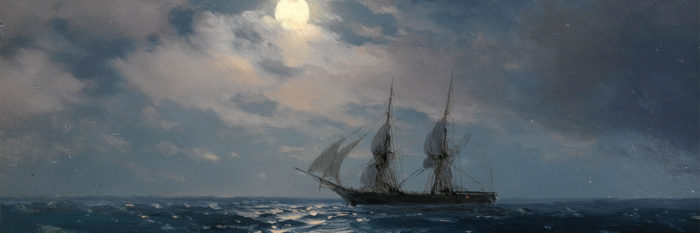 Ivan Konstantinovich Aivazovsky-THE BRIG MERCURY IN MOONLIGHT_1500x500