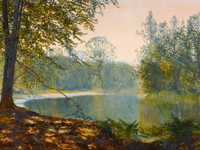 John Atkinson Grimshaw-The quiet of the lake, Roundhay Park_2732x2048