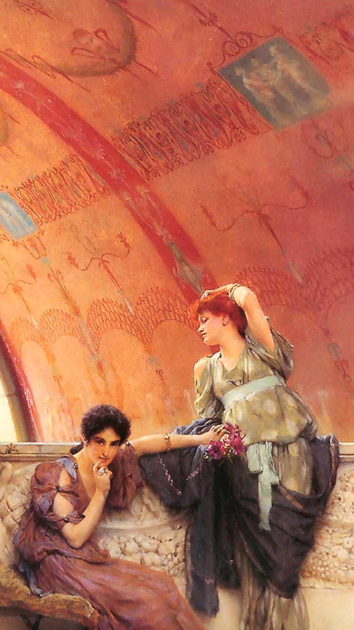 Lawrence Alma-Tadema_Unconscious_Rivals_1080x1920