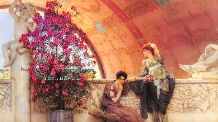 Lawrence Alma-Tadema_Unconscious_Rivals_1920x1080
