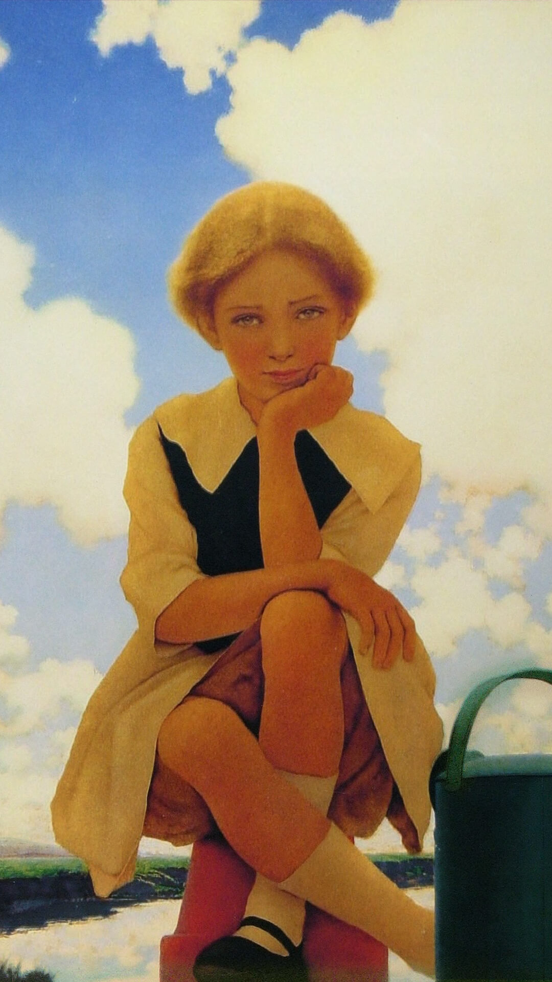 Maxfield parrish-mary mary quite contrary_1080x1920