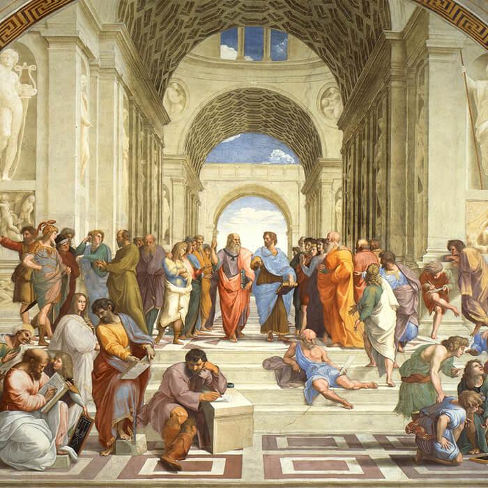 Raffaello Santi-The School of Athens_d