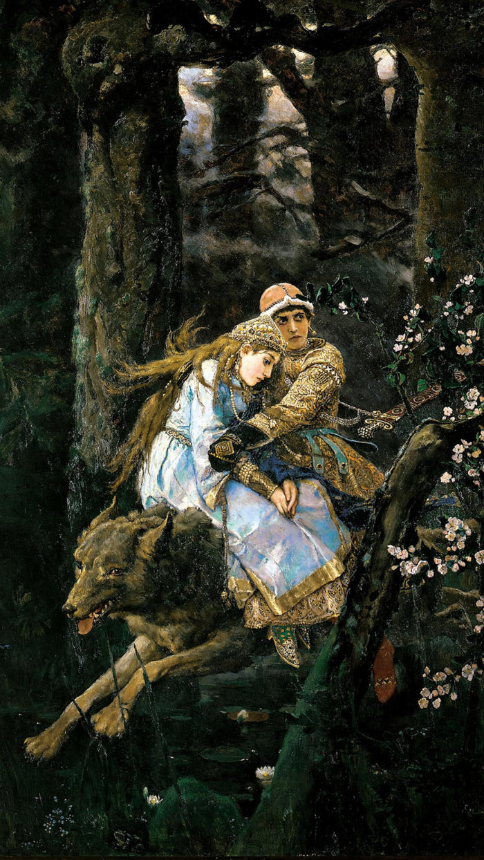 Viktor Vasnetsov-Ivan Tsarevich Riding the Grey Wolf _1080x1920