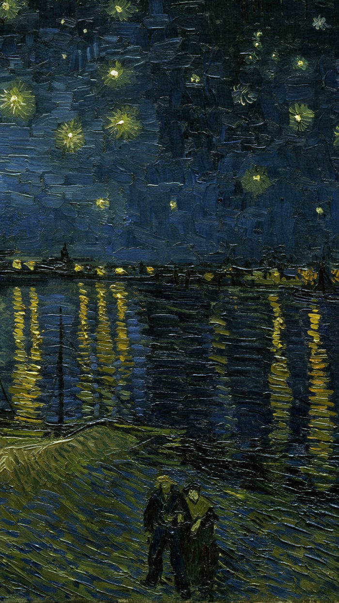 Vincent van Gogh-Starry Night Over the Rhone_1080x1920