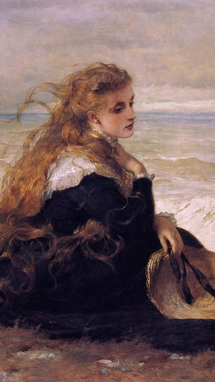 George-Elgar-Hicks-On-the-seashore-1080x1920