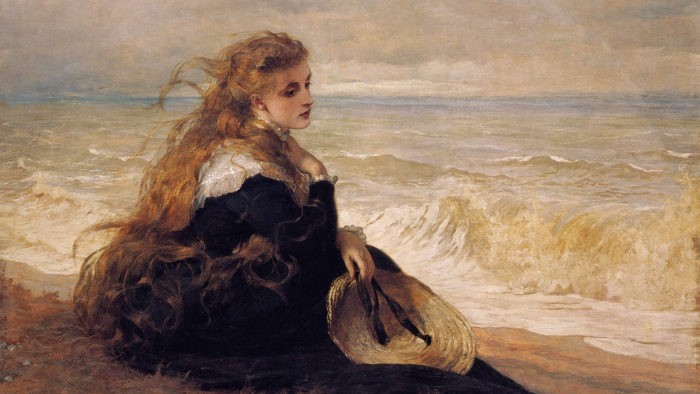 George-Elgar-Hicks-On-the-seashore-1920x1080