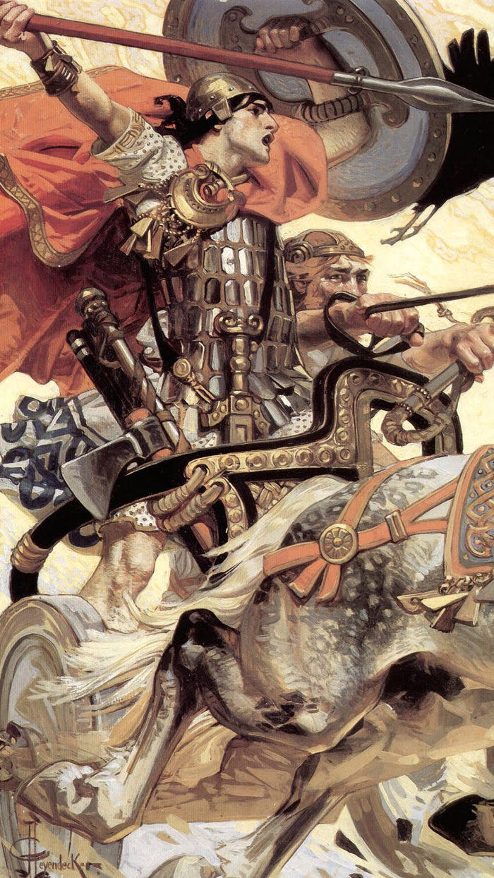 Joseph Christian Leyendecker-Cuchulain In Battle-1080x1920