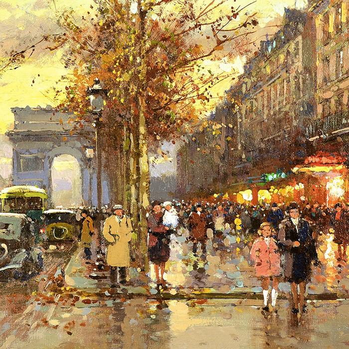 Edouard Léon Cortès - The Arch of Triumph d