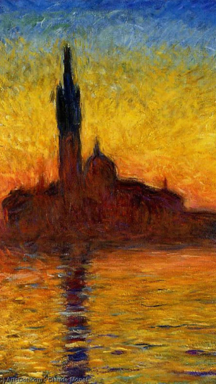 Claude monet - twilight venice 1080x1920