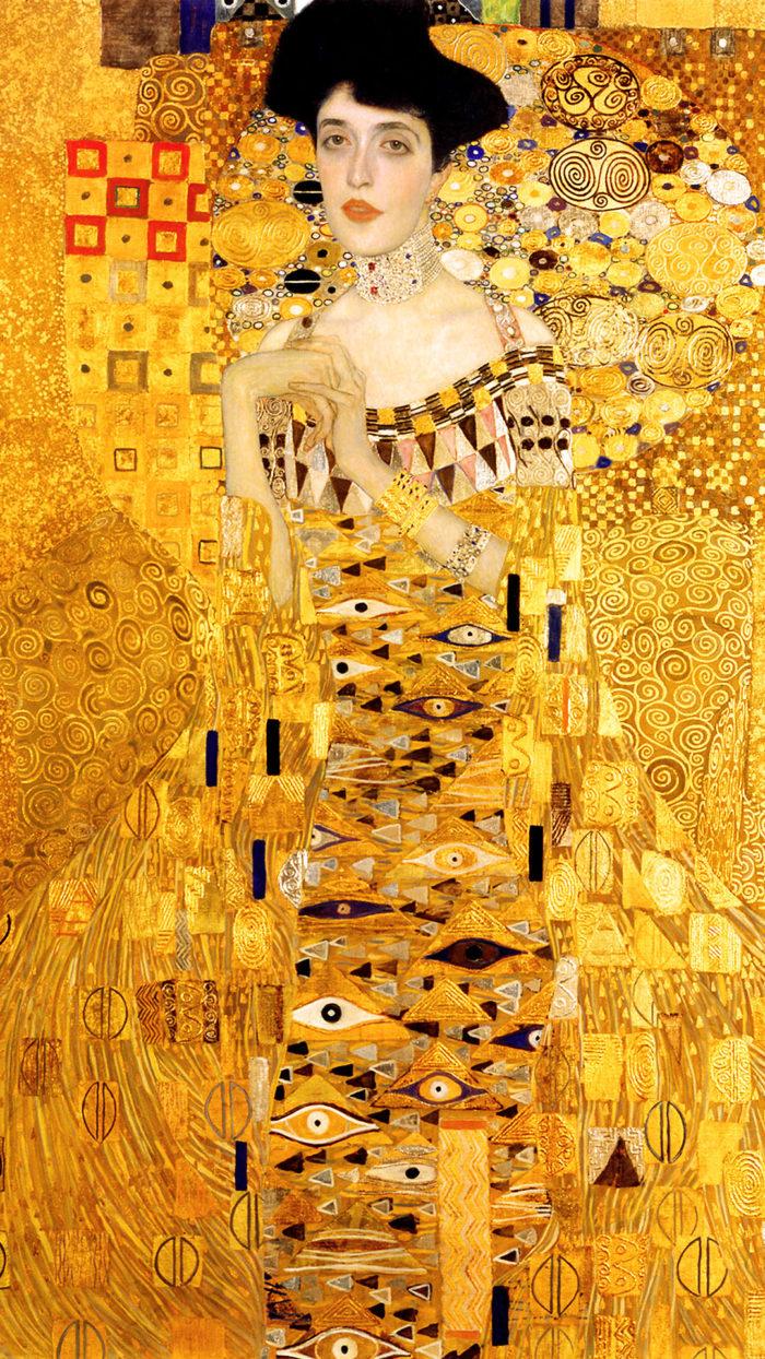Gustav Klimt - Portrait of Adele Bloch-Bauer I 1080x1920