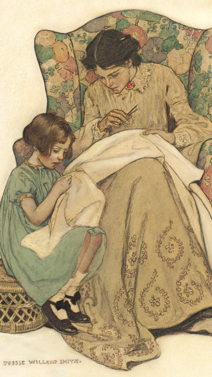 Jessie-Willcox-Smith---The-Sewing-Lesson-1080x1920