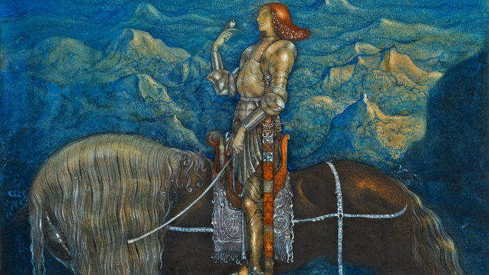 John Bauer - En riddare red fram 1920x1080