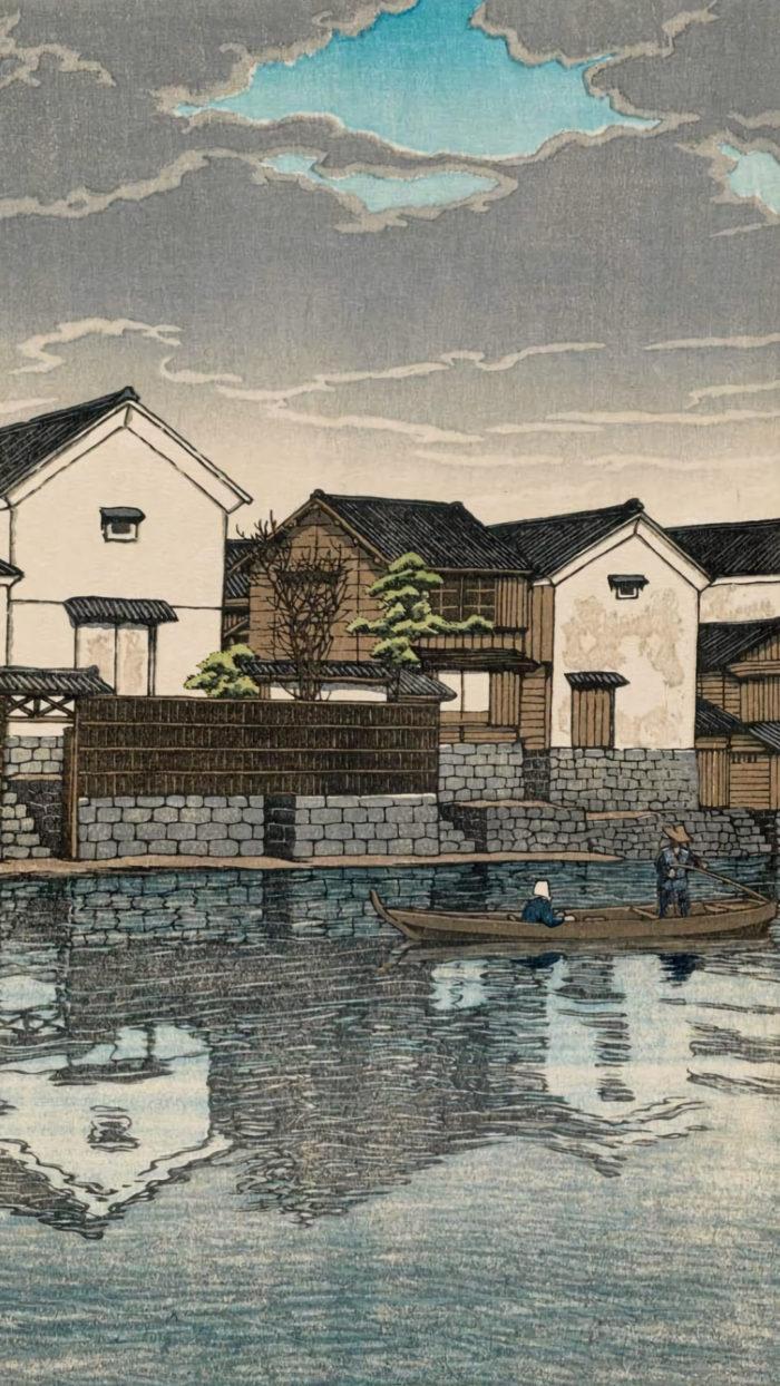 Kawase Hasui - Izumo Matsue kumori bi 1080x1920