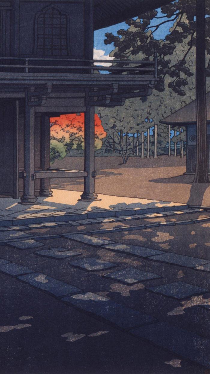 Kawase Hasui - Nobidome heirin ji 1080x1920