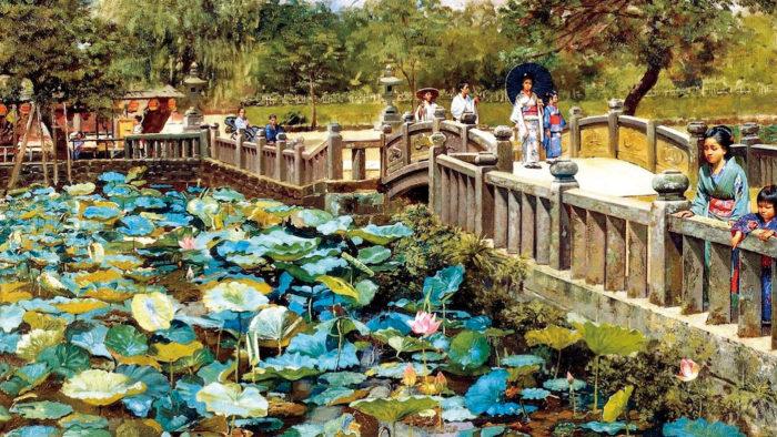 Robert Frederick Blum - Lotus Pond Shiba 1920x1080