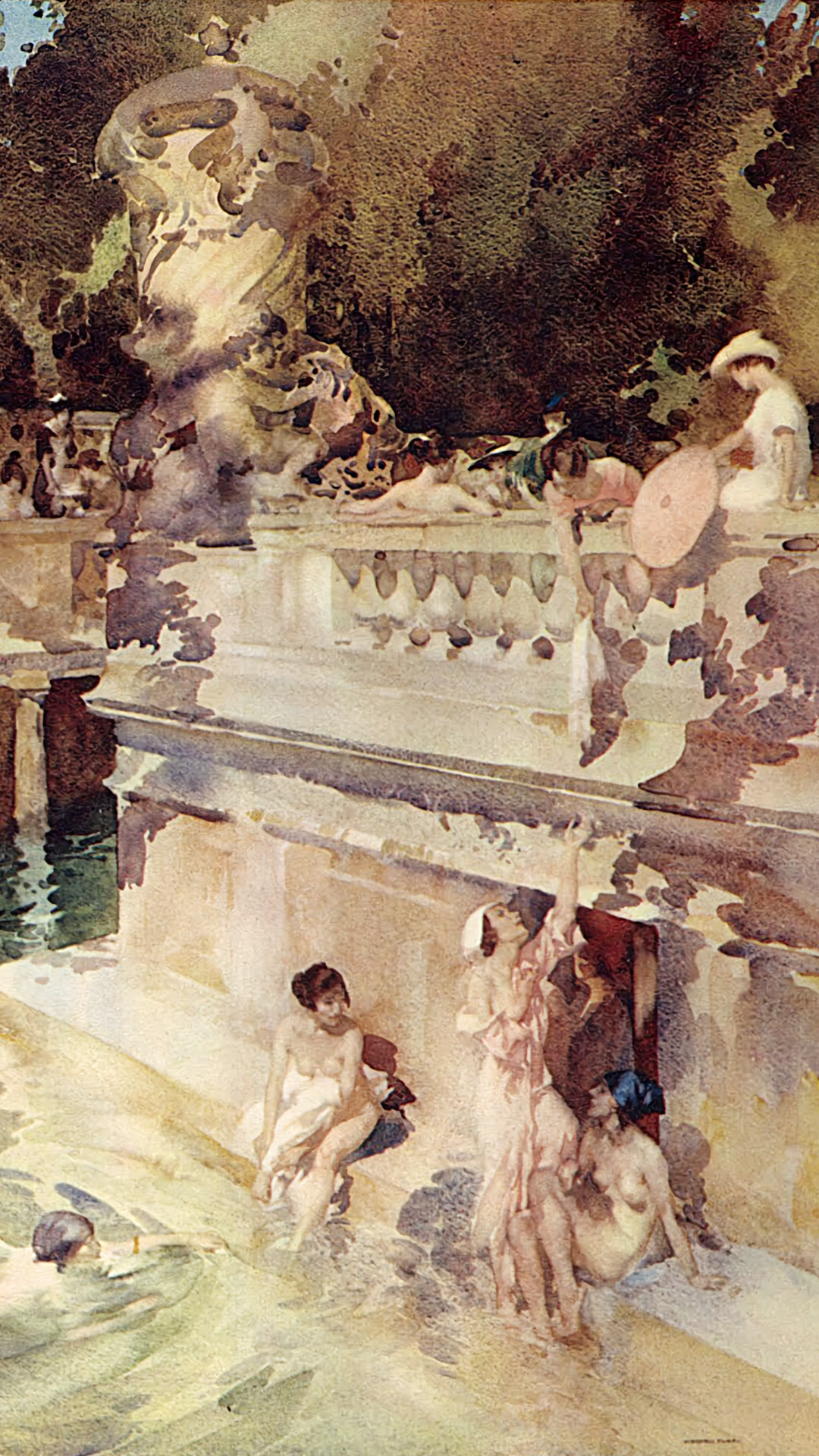 William Russell Flint - The Hedonists 1080x1920