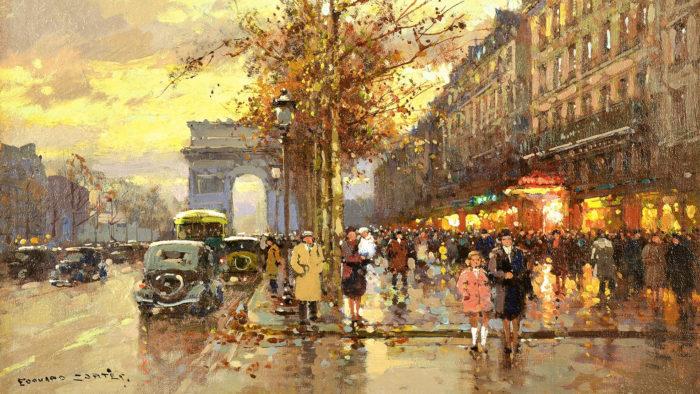 Edouard Léon Cortès - The Arch of Triumph 1920x1080