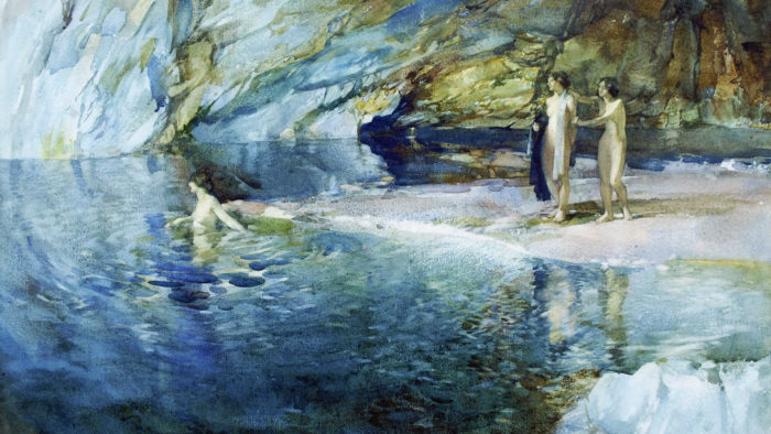 William Russell Flint – The Swimmer 1920x1080