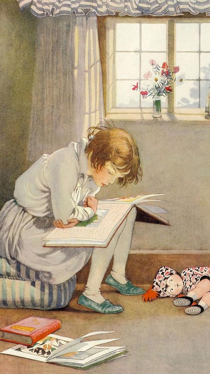 Honor C. Appleton – Girl Reading 1080x1920