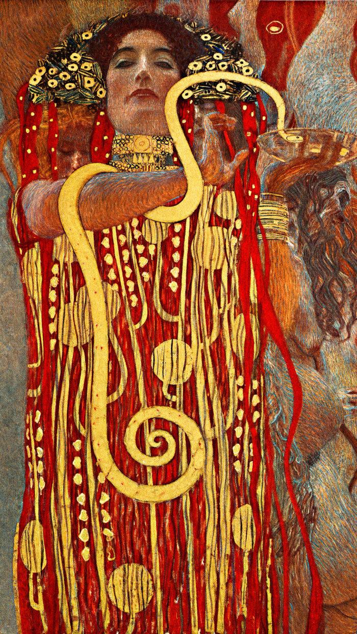 Gustav Klimt - Hygieia 1080x1920