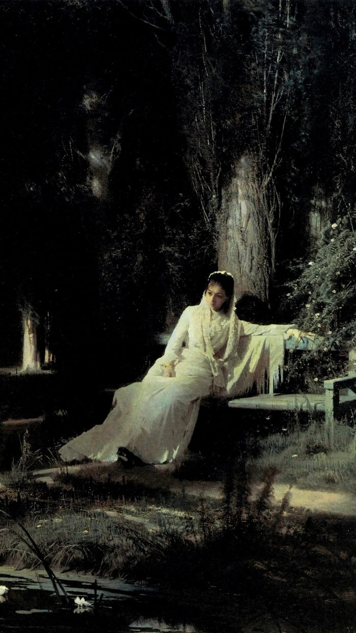 Ivan Kramskoy - Moonlight night 1080x1920