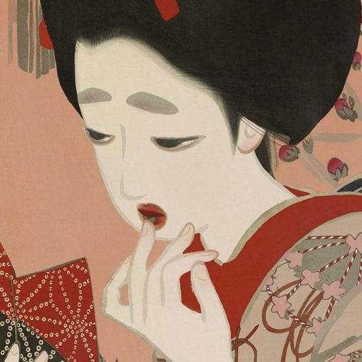 Katano Tsunetomi - Shin ukiyoe bijin awase 3gatsu kuchibeni d