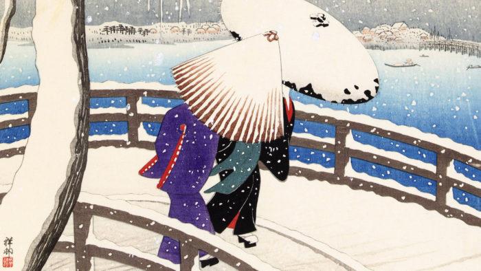 Ohara Koson - Yuki no yanagi 1920x1080