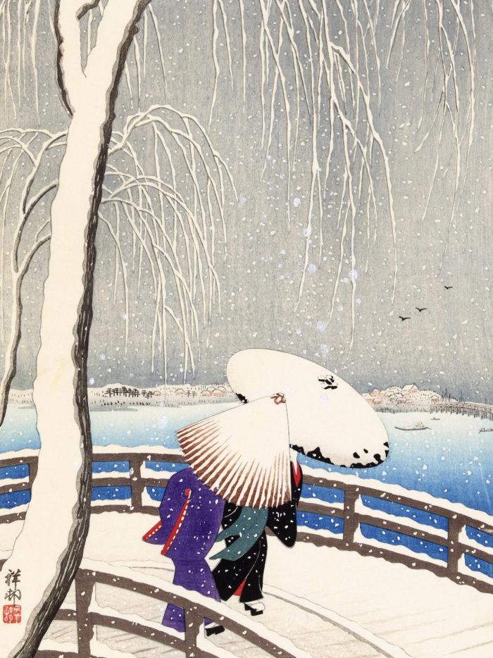 Ohara Koson - Yuki no yanagi 2048x2732
