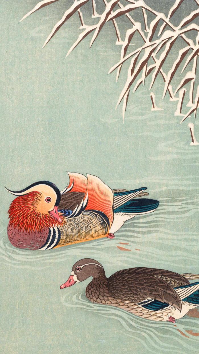 Ohara koson - Mandarin duck 1080x1920