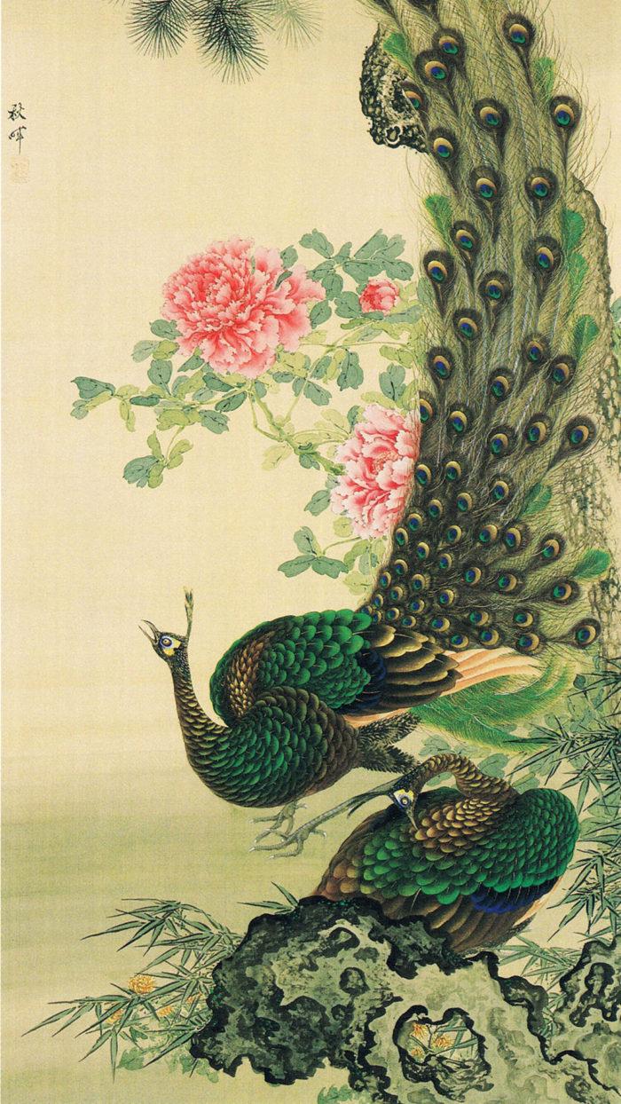 Okamoto Shuki - Botan kujaku zu 1080x1920