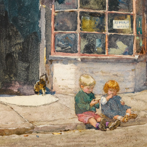 Rose Maynard Barton - Cobbler's shop in Lancelot Place, Knightsbridge d