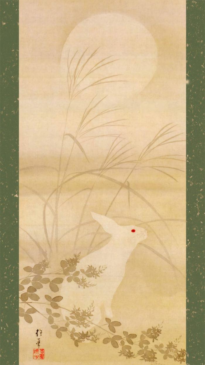Sakai Hoitsu - Tsuki ni usagi 1080x1920