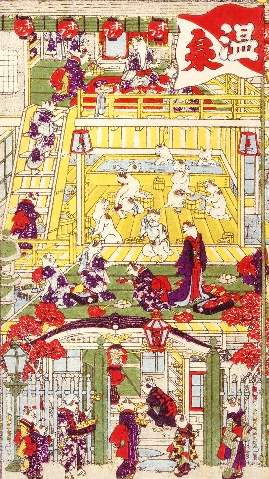 Utagawa Yoshifuji - Onsen no kei 1080x1920