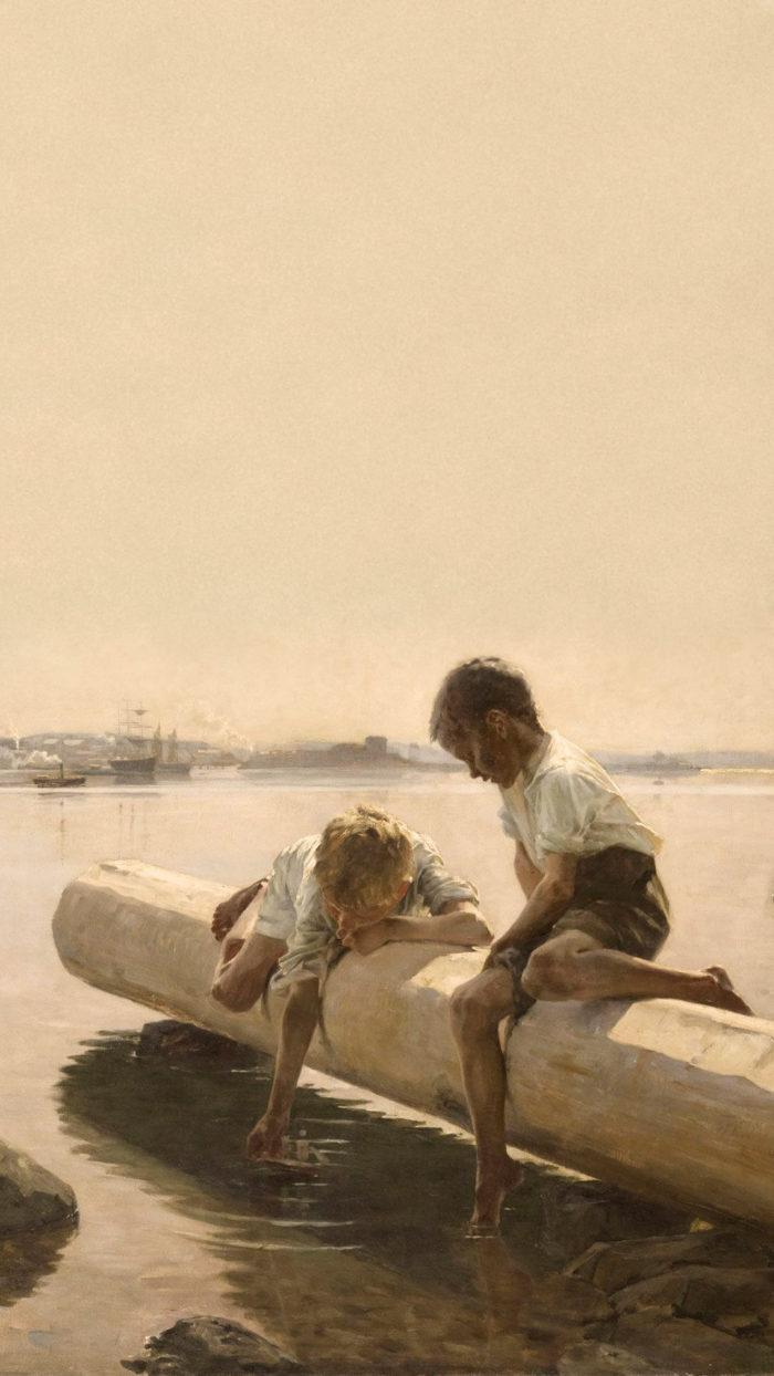 Albert Edelfelt - The Little Boat 1080x1920