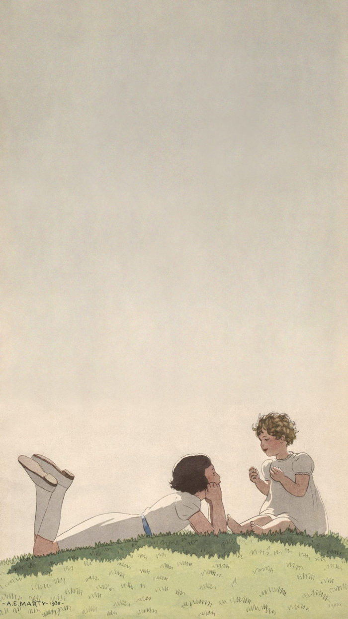 Andre Edouard Marty - Sisters Talking on Hill 1080x1920