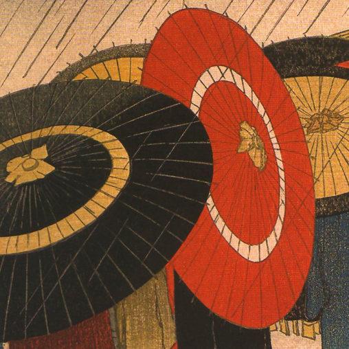 Friedrich Capelari - Umbrellas aka Girls Returning Home In The Rain d
