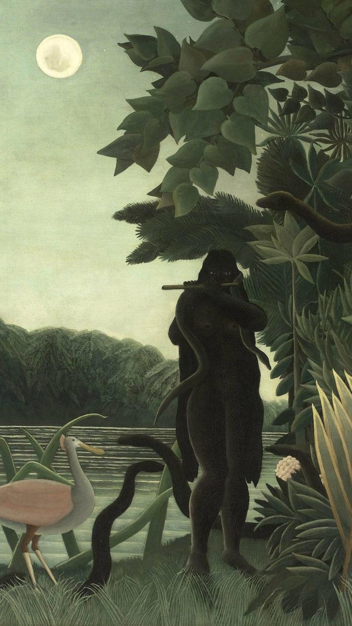 Henri Rousseau - La Encantadora de Serpientes 1080x1920