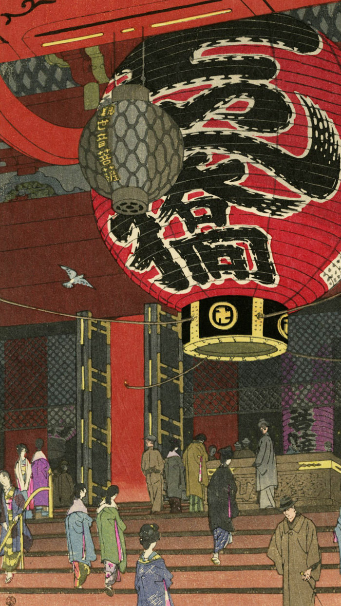 Kasamatsu Shiro - Asakusa kannondo daichochin 1080x1920