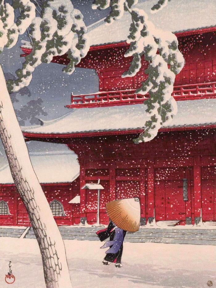 Kawase Hasui - Shiba zojoji 2048x2732