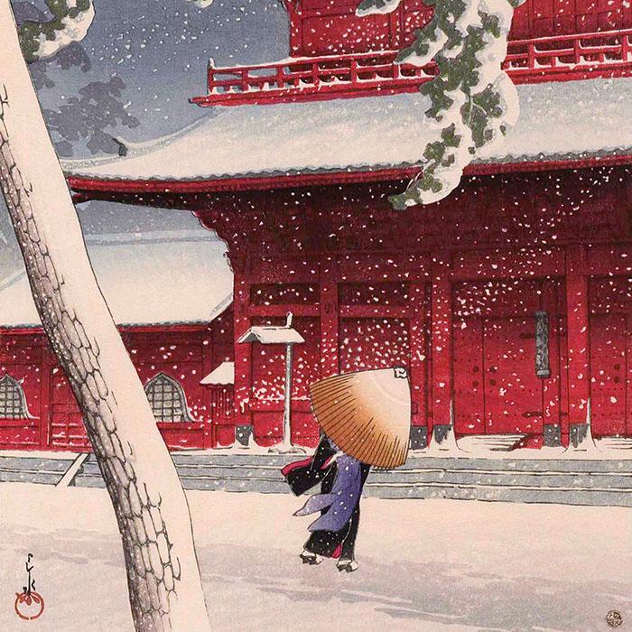 Kawase Hasui - Shiba zojoji d