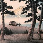 川瀬巴水 / 東海道風景選集 田子の浦の夕