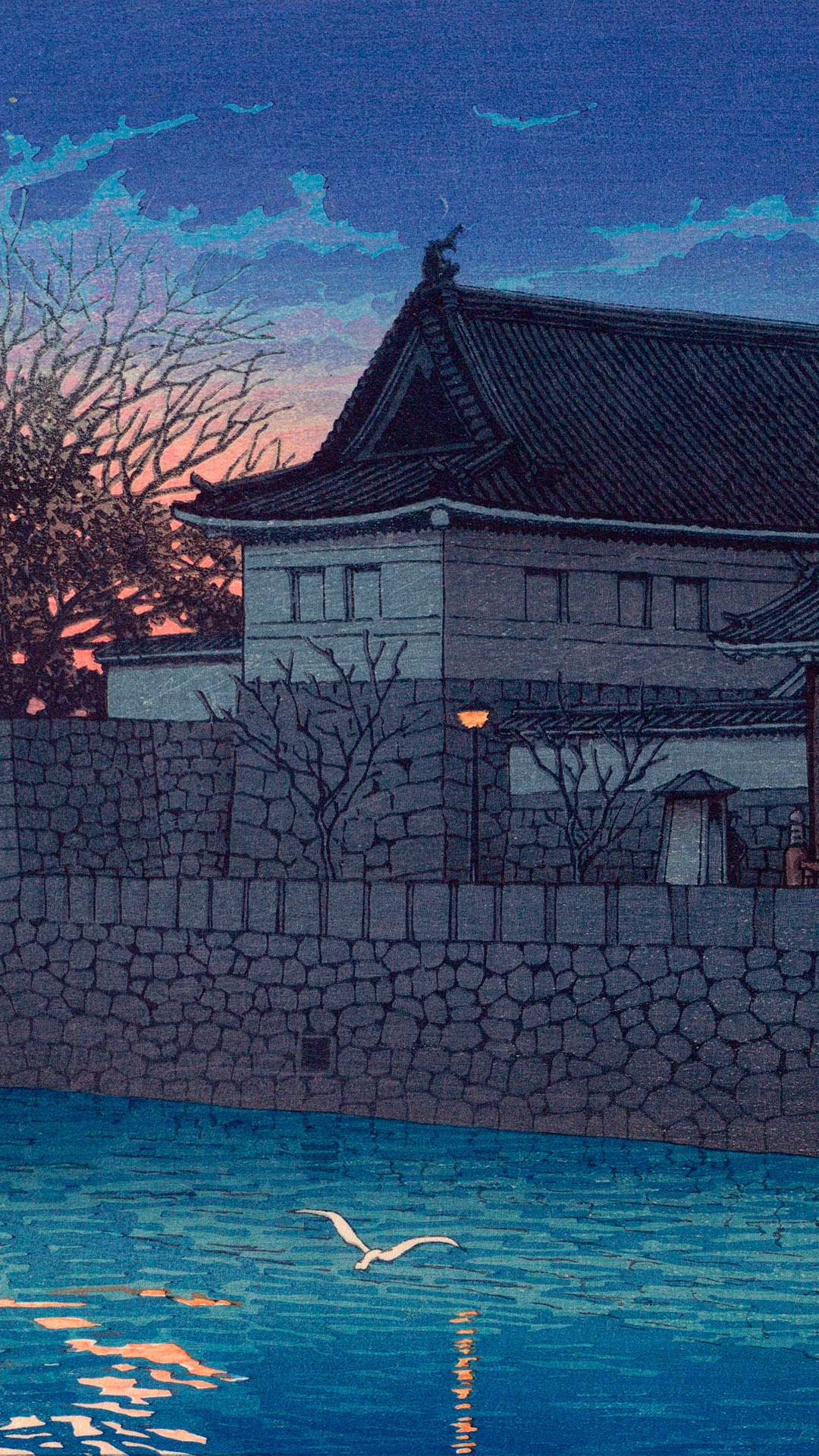 Kawase Hasui- Tokyo20kei hirakawa mon 1080x1920
