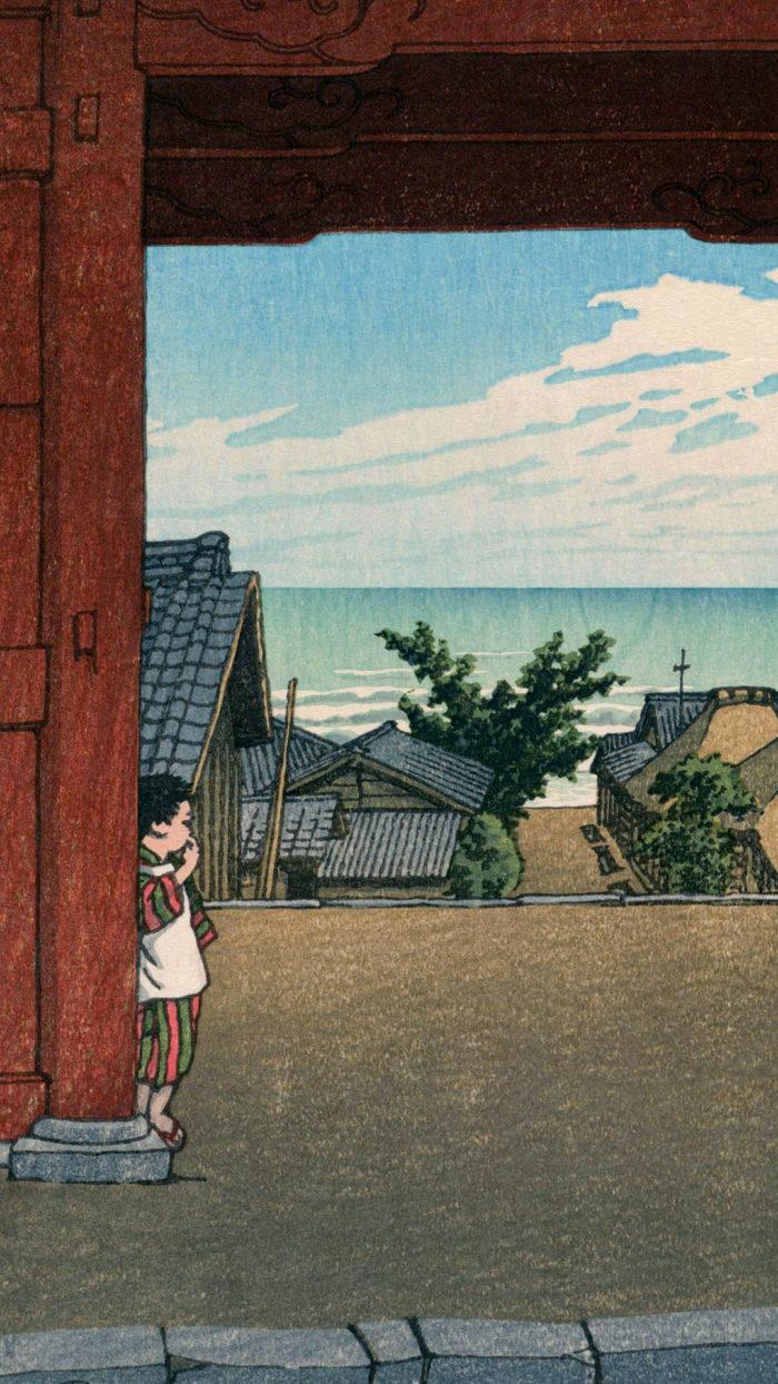 Kawase Hasui - boshu hamaogi tamon ji 1080x1920 2